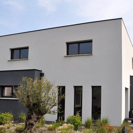 Finest maison moderne style cubique with prix maison for Prix maison cubique nord