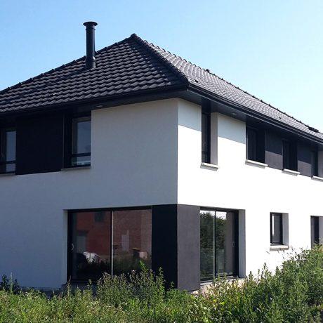 Black white maisons d 39 en france nord for Paiement construction maison
