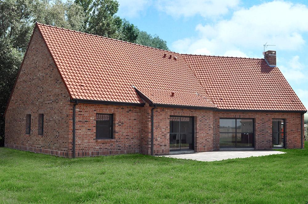 Maison contemporaine maisons d 39 en france nord for Paiement construction maison