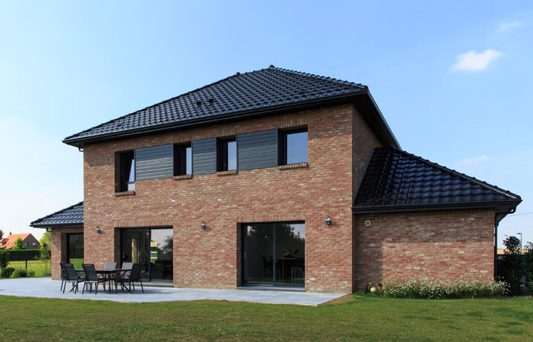 Maison moderne maisons d 39 en france nord for Paiement construction maison