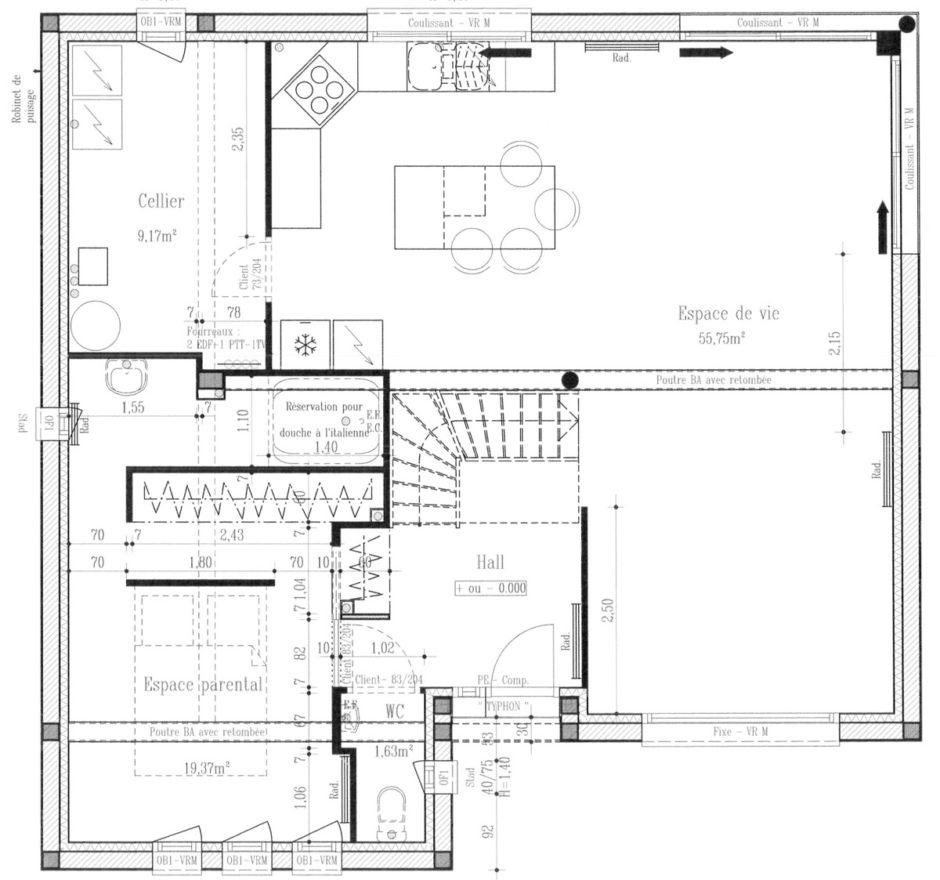 Plan De Maison Moderne maison moderne cubique | maisons d'en france nord